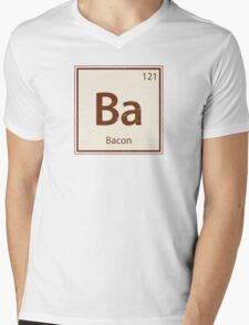 Vintage Bacon Periodic Table Element Mens V-Neck T-Shirt
