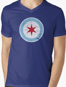 Vintage Chicago Star Mens V-Neck T-Shirt