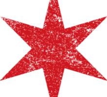 Vintage Chicago Star Sticker