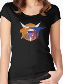Ginyu Force Pose and Logo (Dragonball Z) Women's Fitted Scoop T-Shirt