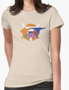 Ginyu Force Pose and Logo (Dragonball Z) Womens Fitted T-Shirt
