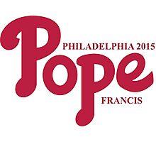 Pope Phillies Logo Mash Up Photographic Print