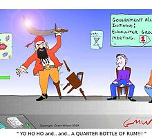 Funny Pirate Alcohol Initiative Cartoon by Grant Wilson
