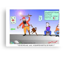 Funny Pirate Alcohol Initiative Cartoon Canvas Print