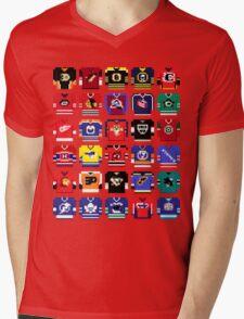 8-Bit Hockey Jerseys '16 Mens V-Neck T-Shirt