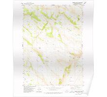 USGS Topo Map Oregon Lambing Canyon 280461 1977 24000 Poster