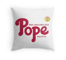 "Pope Phillies Logo Mash Up ""I Was There"" Throw Pillow"