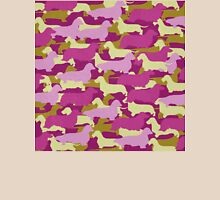 Distressed Camo Dachshund Silhouettes - Smooth, Wire, Long, Hair, Coat, Longhair, Wirehair T-Shirt