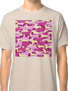 Camo Dachshund Silhouettes - Smooth, Wire, Long, Hair, Coat, Longhair, Wirehair Classic T-Shirt