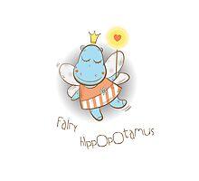 Fairy hippopotamus. Photographic Print
