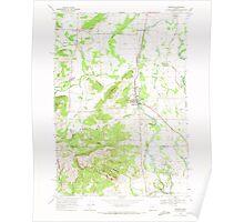 USGS Topo Map Oregon Monroe 280780 1969 24000 Poster