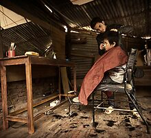 The Barber #0601 by Michiel de Lange