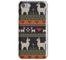 Llama Knit iPhone Case/Skin