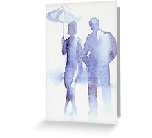 Summer rain in London Greeting Card