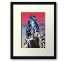Old and new - Gherkin Framed Print