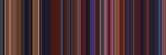 Moviebarcode: Beauty and the Beast (1991) [Simplified Colors] by moviebarcode