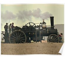 Steam Powered Ploughing Engine Poster