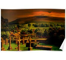 Red Sky on Pendle Hill Poster
