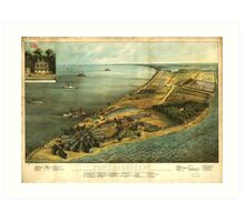Civil War Hammond General Hospital and Prison Lookot Point Maryland Art Print