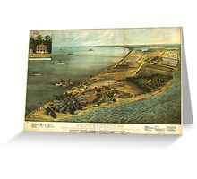 Civil War Hammond General Hospital and Prison Lookot Point Maryland Greeting Card