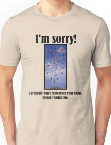 I Probably Don't Remember Your Name; Please Remind Me Unisex T-Shirt
