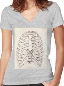 Ribs Women's Fitted V-Neck T-Shirt