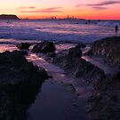 Sunset at Currumbin Rock, Queensland by Gili Orr