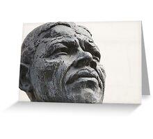 Nelson Mandela London Statue Greeting Card
