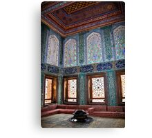 Turkey. Istanbul. Topkapi Palace. Harem. Apartments of crown prince. Canvas Print