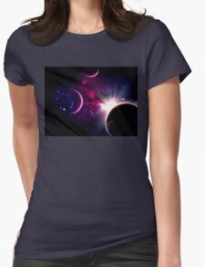 Planets and Nebulas 6 Womens Fitted T-Shirt