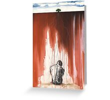 Thinker Rooted Ground Greeting Card
