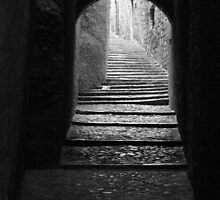 Alleyway in Girona, Spain by WestEndBlvd