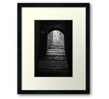 Alleyway in Girona, Spain Framed Print