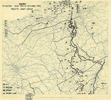 World War II Twelfth Army Group Situation Map October 10 1945 by allhistory