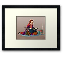 The reader V2 Framed Print