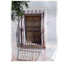 Window at San Xavier del Bac 2 Poster