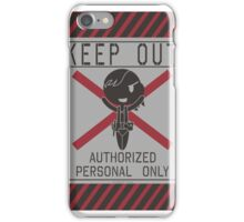MGSV Warning Sign - Quiet iPhone Case/Skin