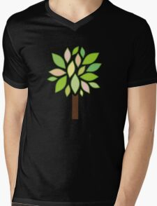 Growing Tree Mens V-Neck T-Shirt
