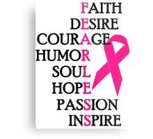 Fearless Breast Cancer Awareness Metal Print