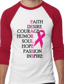 Fearless Breast Cancer Awareness Men's Baseball ¾ T-Shirt