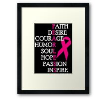 Fearless Breast Cancer Awareness Framed Print