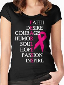 Fearless Breast Cancer Awareness Women's Fitted Scoop T-Shirt