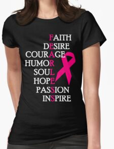 Fearless Breast Cancer Awareness Womens Fitted T-Shirt