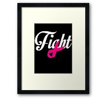 Fight Breast Cancer Awareness Framed Print