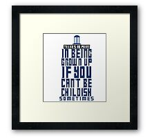 Doctor Who TARDIS Quote Framed Print