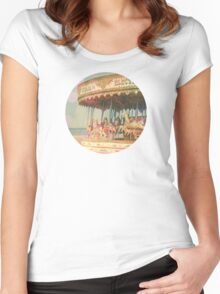 Circling Horses Women's Fitted Scoop T-Shirt