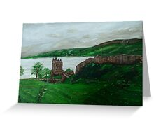 Urghart Castle, Loch Ness Greeting Card