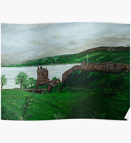 Urghart Castle, Loch Ness Poster