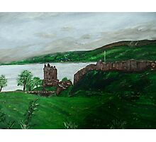 Urghart Castle, Loch Ness Photographic Print