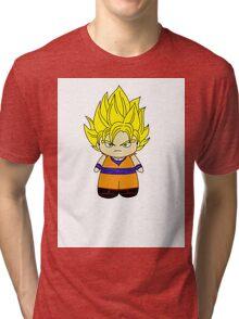 Chibi Super Saiyan Goku Tri-blend T-Shirt